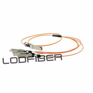 Breakout Active Optical Cable LODFIBER 5m 16ft to 4x10G SFP AOC-Q-S-40G-5M Arista Networks Compatible 40G QSFP