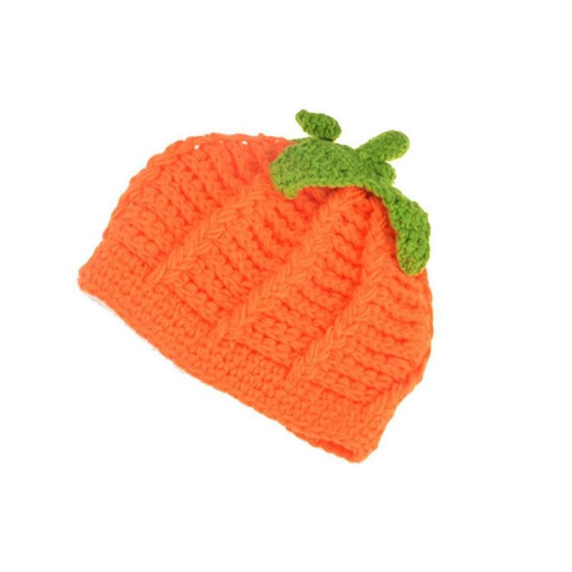 17 Cute Halloween Baby Hat Newborn Baby Pumpkin Cap Knit Hat Costume Photography Prop Dropshipping AG02 7