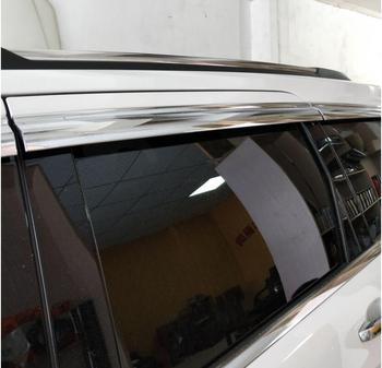 ABS Chrome plastic Window Visor Vent Shades Sun Rain Guard car accessories for Jeep Compass 2017 2018 car styling
