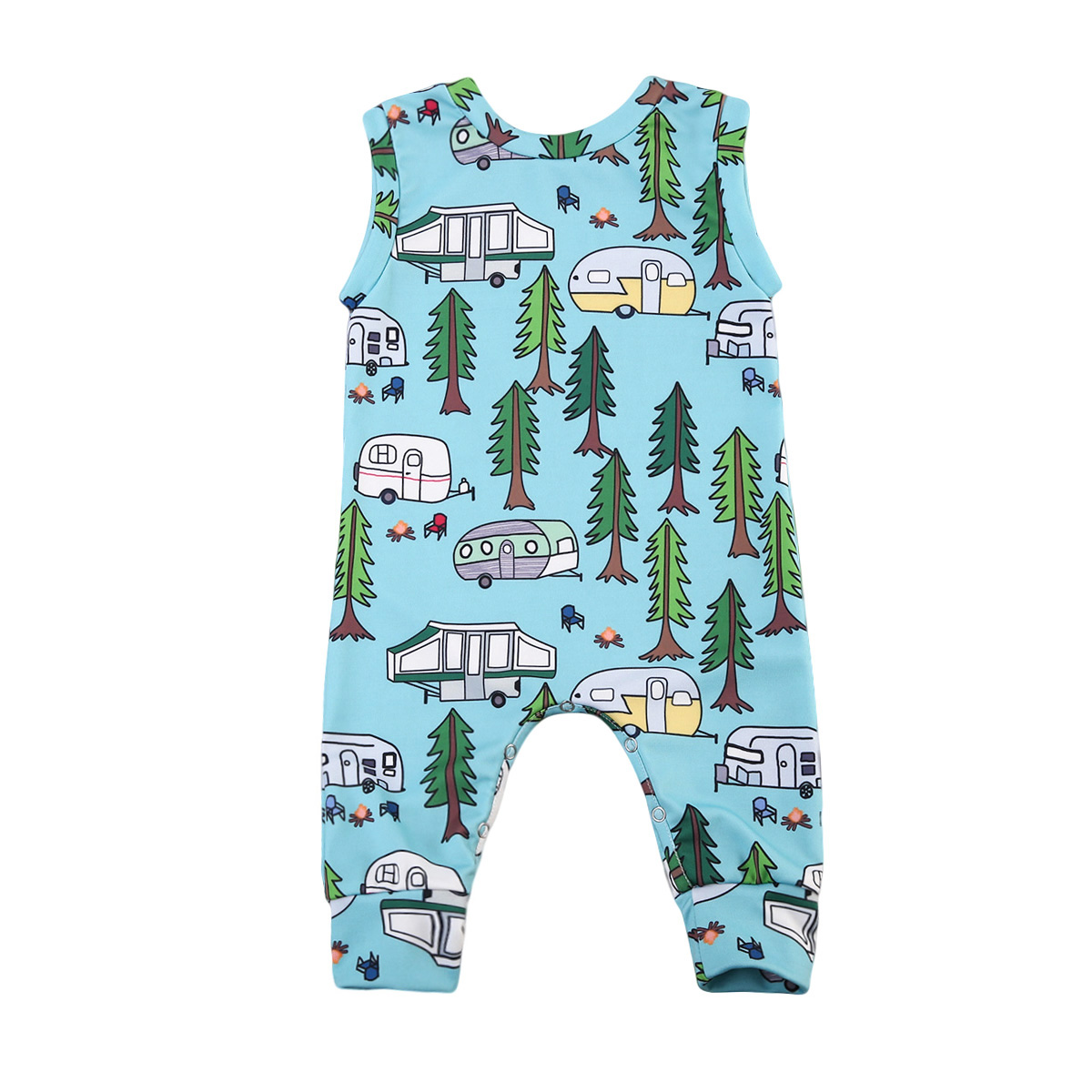 2017 Blau Neugeborene Jungen Mädchen Dinosaurier Sleeveless Spielanzug Gesamt Overall Outfits Anime Nette Kleidung Overalls
