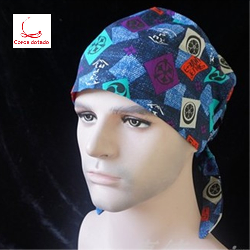 Men 39 s blue bottom beetle thicker surgical hat doctors tour anesthesia beauty salon floral in Men 39 s Skullies amp Beanies from Apparel Accessories