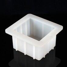 Маленькая силиконовая форма для мыла белая Прямоугольная форма для буханки