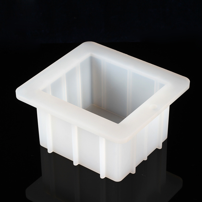 White square cake silicone mold strong loaf soap mould