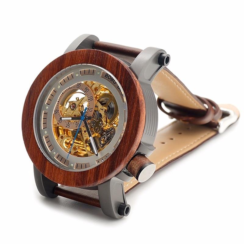 BOBO BIRD Relojes mecánicos de los hombres de la marca de lujo - Relojes para hombres - foto 3