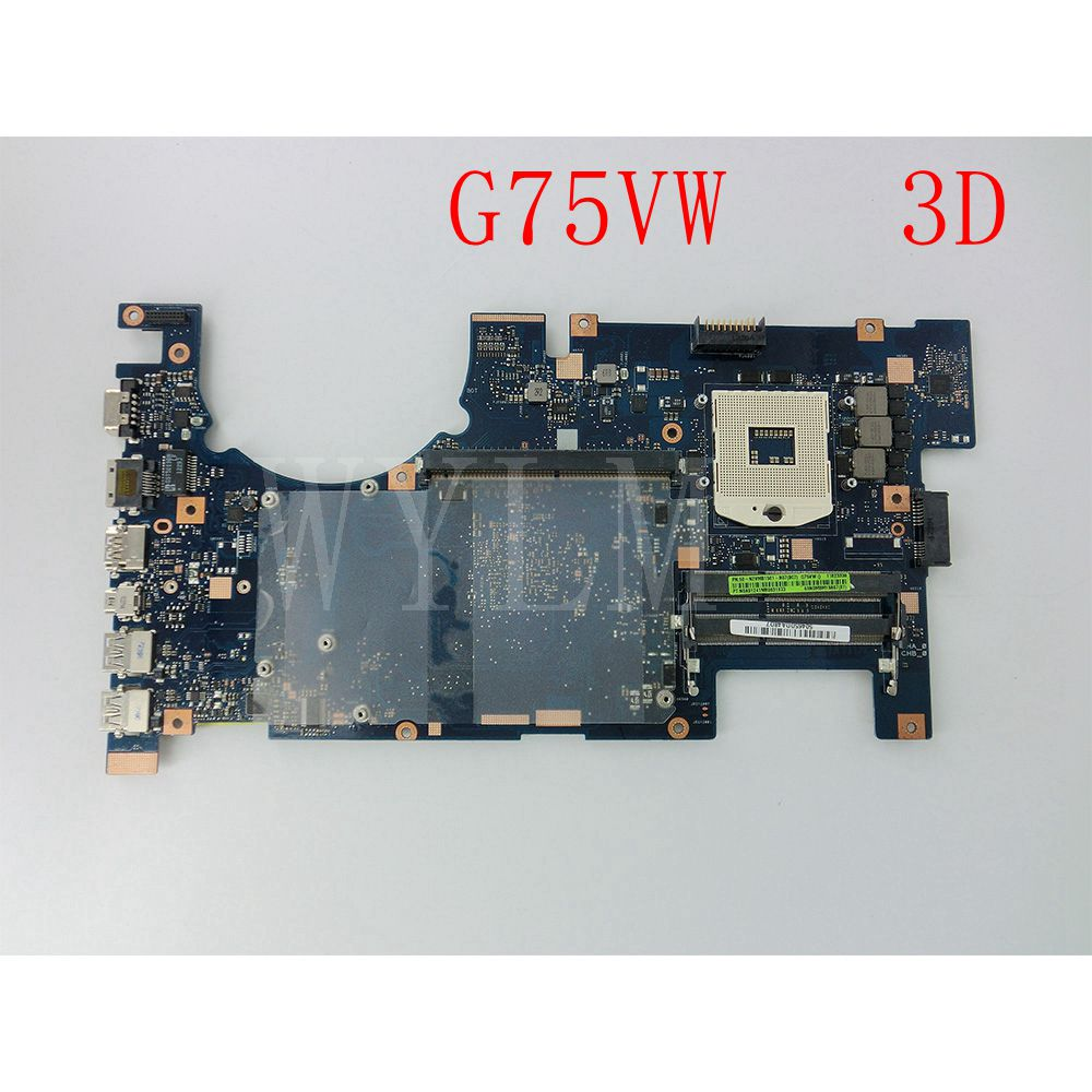 G75VW Motherboard For ASUS G75V G75VW 3D Laptop Motherboard Mainboard 60-N2VMB1501-B07 100% Tested Working Well free shipping hot for asus x551ca laptop motherboard x551ca mainboard rev2 2 1007u 100% tested new motherboard