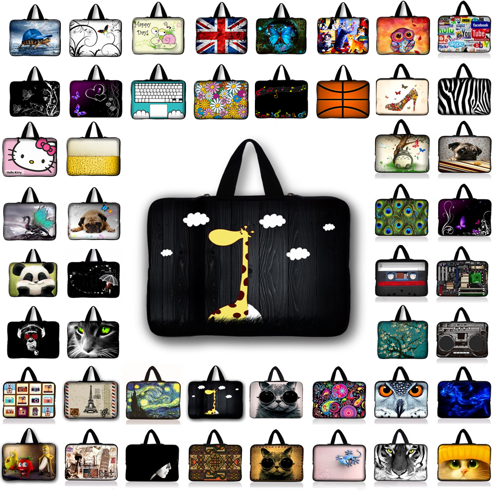 Fashion Laptop Sleeve 9.7 11.6 13.3 14 15.4 15.6 17.3 Laptop Bag Neoprene Notebook Case For macbook air/pro/retina For Asus HP