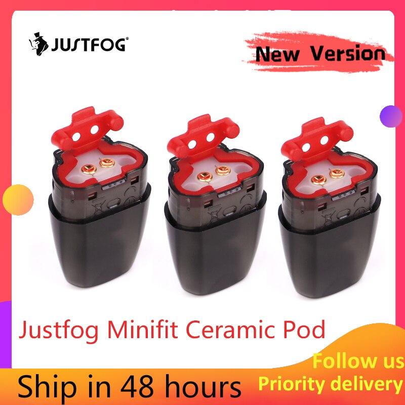 Newest Version!!!Original JUSTFOG Minifit Pod 3 pcs 1.5ml for JUSTFOG minifit Starter Kit Electronic cigarette Accessory