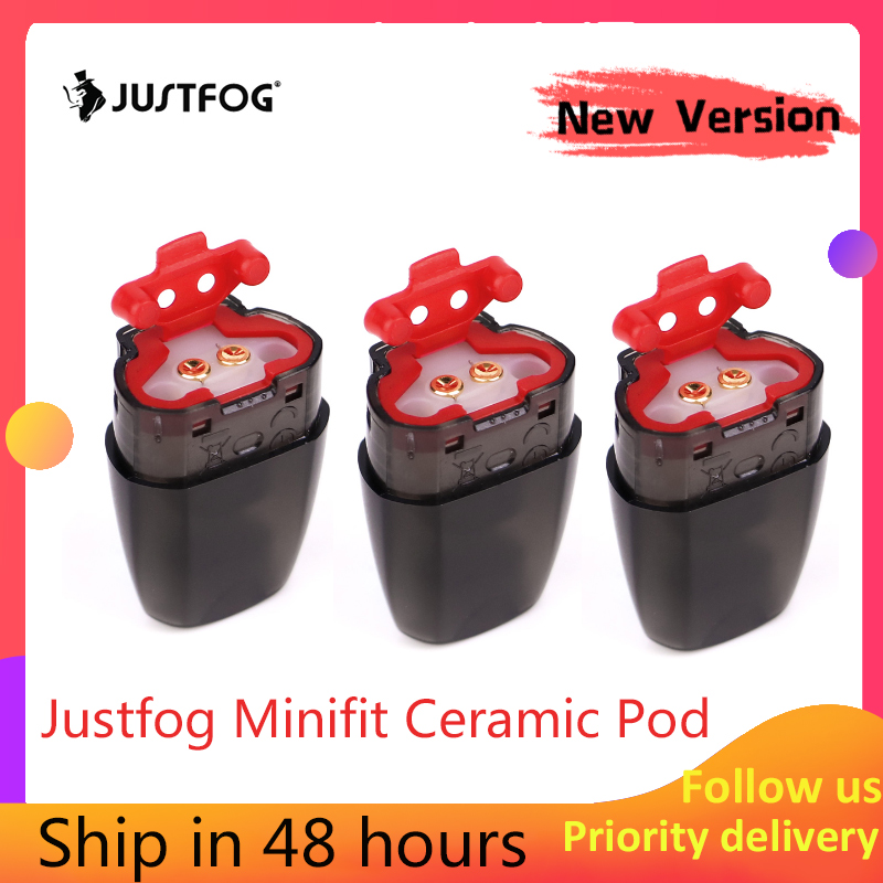 Newest Version!!!Original JUSTFOG Minifit Pod/Ceramic Pod 3 Pcs 1.5ml For JUSTFOG Minifit Starter Kit Electronic Cigarette Acces