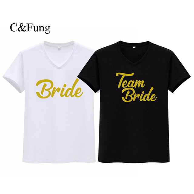 69e6d4dc C&Fung bride to be team bride shirts CUSTOM Bachelorette tshirts bridal  party beach tee tops v neck t shirts