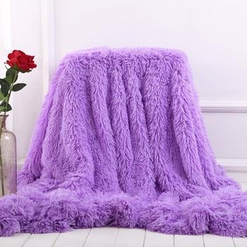 Fluffy Faux Fur Throw Blanket