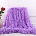 XC USHIO Super Soft Long Shaggy Fuzzy Fur Faux Fur Warm Elegant Cozy With Fluffy Sherpa Throw Blanket Bed Sofa Blanket Gift