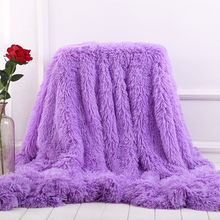 XC USHIO Super Soft Long Shaggy Fuzzy Fur Faux Fur Warm Elegant Cozy With Fluffy Sherpa Throw Blanket Bed Sofa Blanket Gift(China)