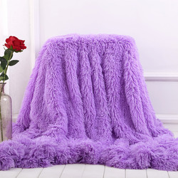 XC USHIO Super Soft Long Shaggy Fuzzy Fur Faux Fur Warm Elegant Cozy With Fluffy Sherpa Throw Blanket Bed Sofa Blanket Gift