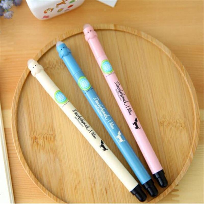 3 pcs perlengkapan sekolah kawaii penne lapices gel dihapus pena set