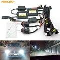 FEELDO 1 комплект 35 Вт Автомобильная фара переменный ток H13 HID ксеноновая лампа Hi/Lo Луч би-ксеноновая лампа Цифровой Тонкий комплект ballast HID # FD-4534