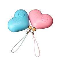 Hot sale Cute Heart Shaped Personal Travel Protection Outdoor Security Guard Alarm Bell Avoid Attack LCC77