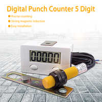 Industrial counter 0-99999 LCD Digital Punch Counter 5 Digit Strong magnet sensor switch Remote controls Punch counter