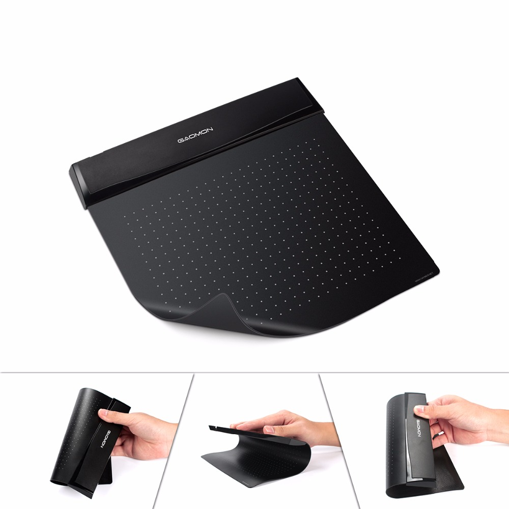 Original GAOMON S56K 6 X 5 Inches Mini USB Graphics Digital Tablet Flexible Drawing Pad For Signature With Pen Holder