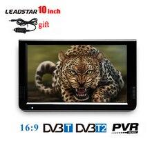 LEADSTAR 10 inch Portable TV Mini Digital Television With DVB-T DVB-T2 Tuner LED Monitor Video Media Player With USB AV TF CARD