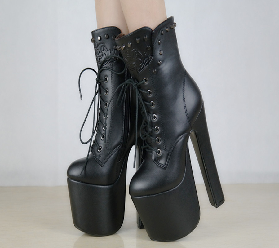 Здесь можно купить  Autumn and winter  European and American 17CM boots Thick thick heels with Martin boots Waterproof shoes with shoes  Обувь