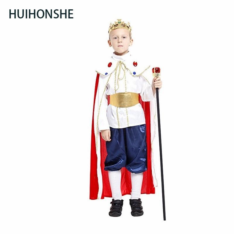 HUIHONSHE Free shipping 3size new boys halloween king cosplay costumes children Prince suit for kids full children's costume