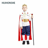 HUIHONSHE Free Shipping 3size New Boys Halloween King Cosplay Costumes Children Prince Suit For Kids Full