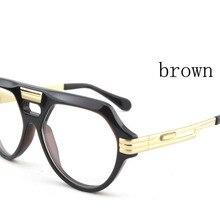 Новые Для мужчин/Для женщин Винтаж Стиль солнцезащитные очки Брендовая Дизайнерская обувь солнцезащитные очки, прозрачные линзы с Изысканная упаковочная коробка