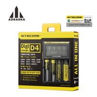 Nitecore d4 d2新しいi4 i2 digicharger lcdインテリジェント回路グローバル保険リチウムイオン18650 14500 16340 26650バッテリー充電器