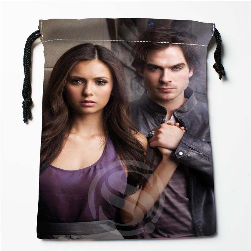 v#bq54 New The Vampire Diaries Custom Logo Printed receive bag Bag Compression Type drawstring bags size 18X22cm 7=12JvQ54