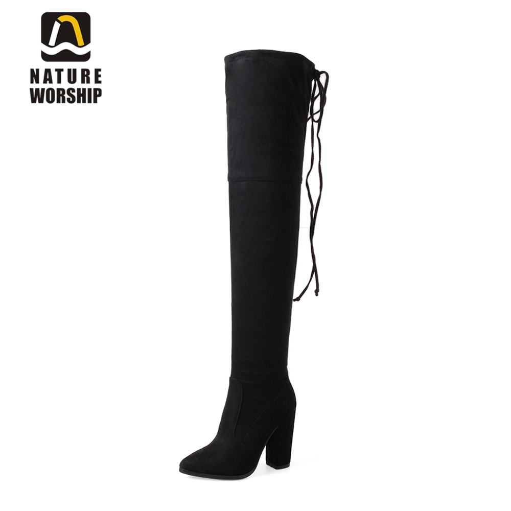 Big size 34-43 winter boots soft suede fashion long boots for women stovepipe long boots over the knee high heels women boots 2017 winter new fashion women brown or white color square toe heels over the knee high thigh boots martin long boots big size 42