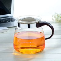 Modern Transparent Glass Teapot Heat Resistant Glass Tea Pot Tea Kettle Thicken Can be Electric Ceramic Heater Free Shipping