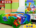 2016 New Spring 100% coral fleece flannel fabric super soft air-condition blanket cartoon Free shipping 150cmx200cm 220G/SM