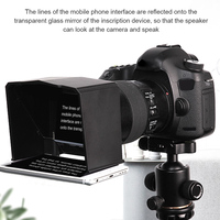 Smartphone Teleprompter for Youtube Interview Video Prompter Monitor for Canon Nikon Sony DSLR Camera Photo Studio