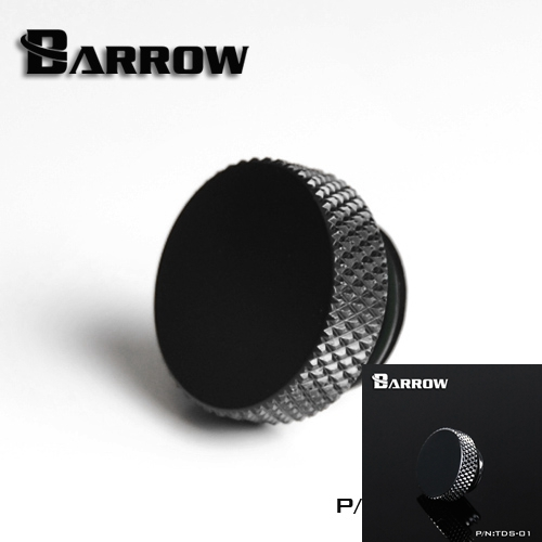 Barrow TDS-01-GM G1 / 4  Black Silver Hand tighten the lock seal sealing plug water cooling computer accessories barrow white black red g1 4 3 8od x 5 8od 10 x 16mm tubing hand compression fittings water cooling fitting