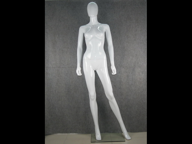The Environmental protection ABS plastic female HIGH GLOSSY EGGS HEAD MANNEQUINS for showcase