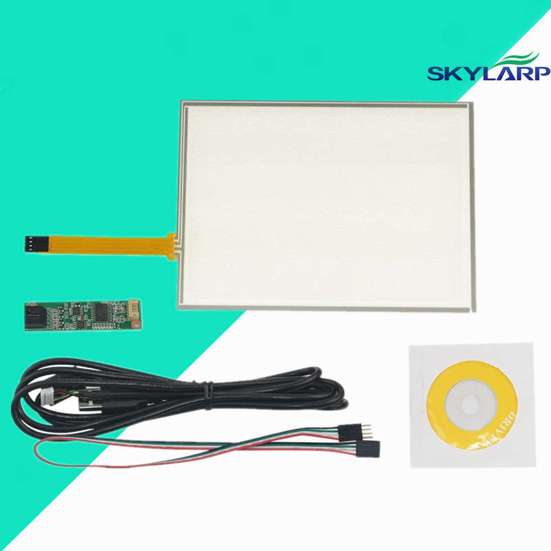 New 8inch 4 Wire Resistive Touch Screen Panel USB Controller Kit For EJ080NA-05B LCD Screen touch panel Glass Free shipping
