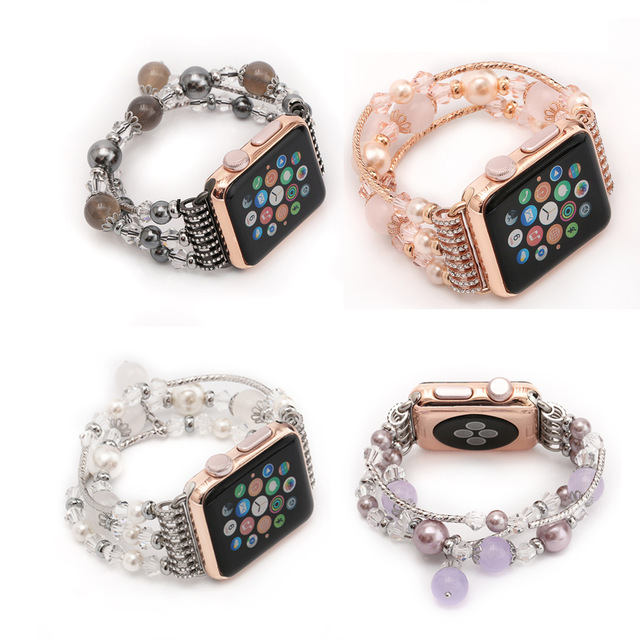 strap for Apple watch band 42mm 38mm 40mm 44mm , Pearl