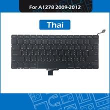 10pcs Lot Laptop A1278 Replacement Keyboard Thai Layout for font b Macbook b font Pro 13