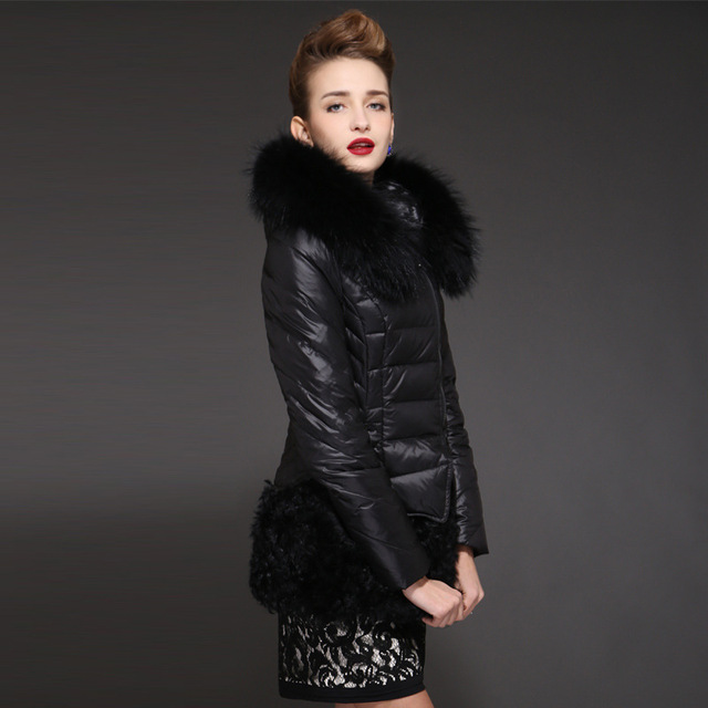 51063fb84d65 2017 Winter jacket women down jackets Fox fur Women s down coat Fox fur  sheep fur down