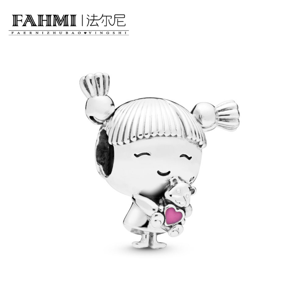 FAHMI 100% 925 Sterling Silver New 2019 Spring 7798016EN160 Girl with Pigtails Charm Beads Mothers Day Jewelry Free ShippingFAHMI 100% 925 Sterling Silver New 2019 Spring 7798016EN160 Girl with Pigtails Charm Beads Mothers Day Jewelry Free Shipping