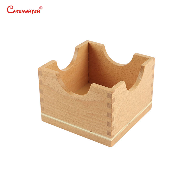 Montessori Materials Pink Tower Stand Wooden Toys Educational For Children Preschool Box Sensorial Kids Baby Toys Games SE005-3