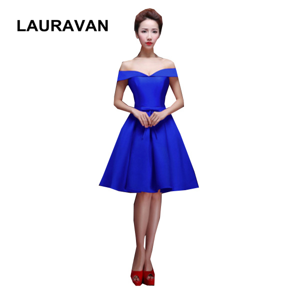 elegant plus size eggplant pretty boat neck   bridesmaid     dresses   sleeveless short   dress   blue black formal gown free shipping