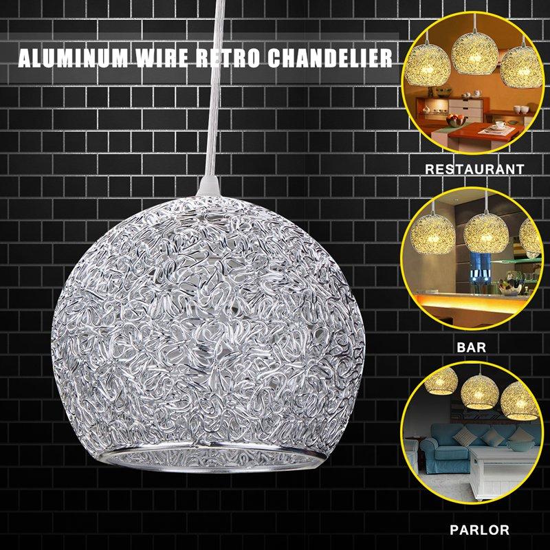 Modern Ceiling Lights Bar Lamp Silver Chandelier Lighting: Smuxi Modern Retro Chandelier Ceiling Light Bar Lamp Wire
