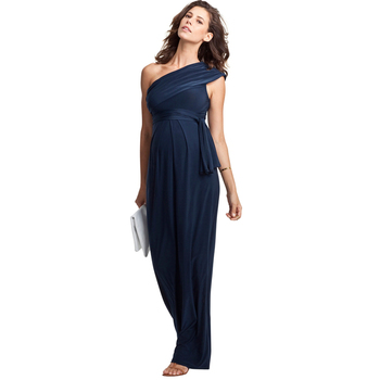 Mother's Day One Shoulder Long Formal Evening Gowns For Pregnant Women Elegant Maternity Dress Office Lady Party Vestidos S-XXXL bahemami maternity dress 2018 pregnancy clothes pregnant women lady elegant vestidos lace party formal evening dresses