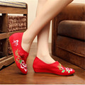 Zapatos Mujer 2017 Fashion Oxford Shoes For Women Flats Chinese Style Embroidered Breathable Casual Shoes Plus Size 34-41