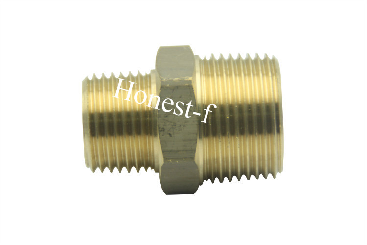 Brass BSP Pipe Hex Reducing Nipple Fitting 3/4 x 1/2 Male BSPP brass pneumatic pipe 1 4 bspt to 1 4 bspt male thread m m equal union hex nipple
