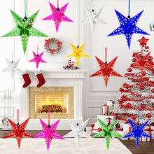 Christmas Decor Colorful three-dimensional laser Xmas Tree five-pointed star ceiling ktv hangings Decoration