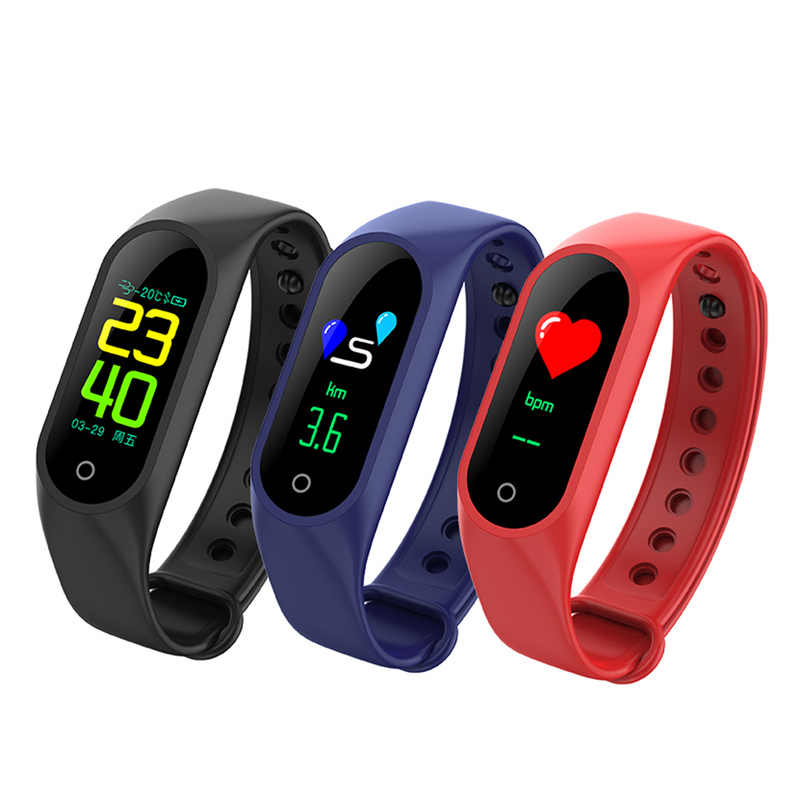 757367f860 Bluetooth M3 sports Smart watch with Blood Pressure Alarm Heart Rate Clock  Step Fitness Tracker for