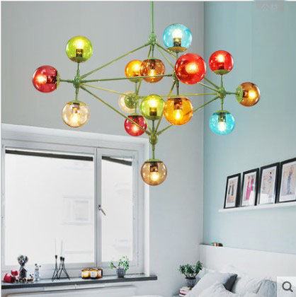 Fashion shop showcase magic Glass ball hanging lighting Pendant lamp Bar dining room LED modo lampada global pendant lights club magic ball 8 доставка снг