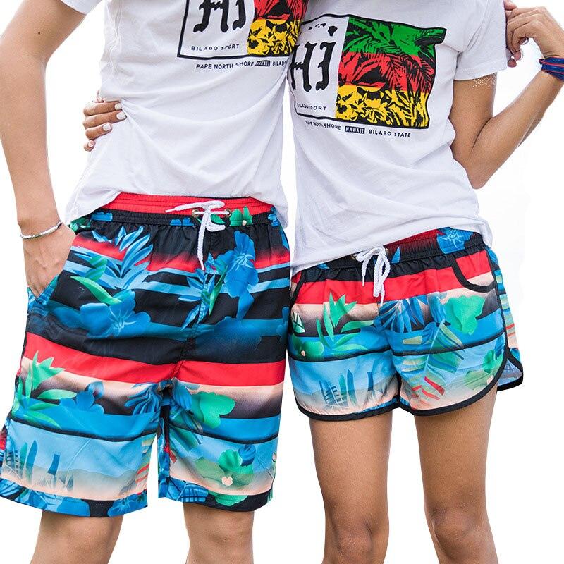 H.S.F.Q secado rápido bragas cortas 2018 hombres del verano cortos de la playa muchos estilos baño pareja deportiva chándal Pantalones